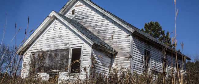 This is what I think is the former Cloverdale School east of Hinckley, Minn. I'd love verification if anyone can provide it. Photo: Kevin Featherly.